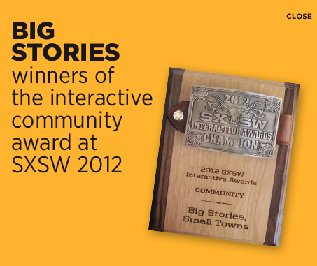Big stories winners of the interactive community award at SXSW 2012